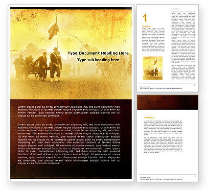 American Civil War Word Template #05086