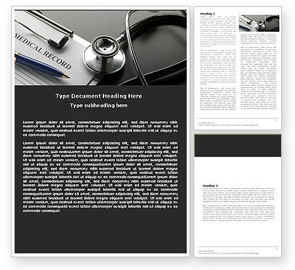 Medical Record Blank Word Template #05110