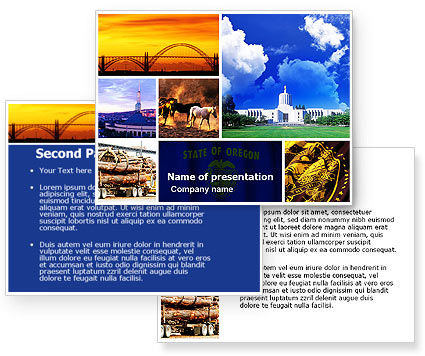 Oregon powerpoint template 3 for Oregon state powerpoint template