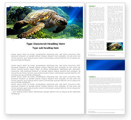 Sea Turtle Word Template #05237