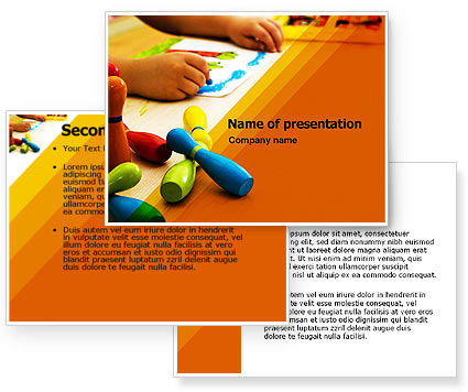 Preschool Education PowerPoint Template #05272