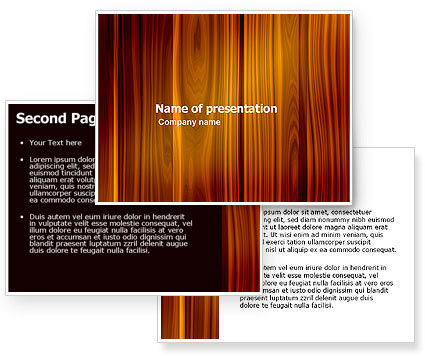 Wood PowerPoint Template #05294