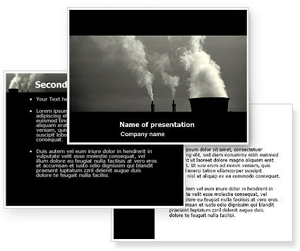 Power Plant PowerPoint Template #05295