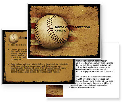 american baseball powerpoint template 05296 3 backgrounds 3 masters. Black Bedroom Furniture Sets. Home Design Ideas