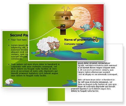 Free Noah's Ark PowerPoint Template #05316