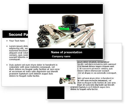 motorcycle tools powerpoint template 3 backgrounds 3 masters 20 slides. Black Bedroom Furniture Sets. Home Design Ideas