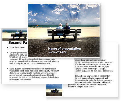 Elderly People PowerPoint Template #05345