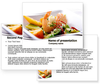 Shrimp PowerPoint Template #05355