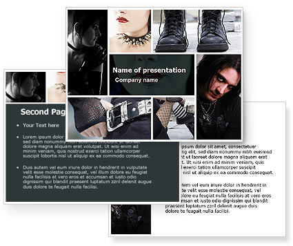 Goth Culture PowerPoint Template #05369