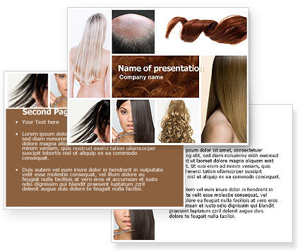 Hairstyle PowerPoint Template - PoweredTemplate.com 05429 3 ...