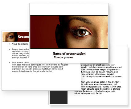 Make-Up PowerPoint Template #05433
