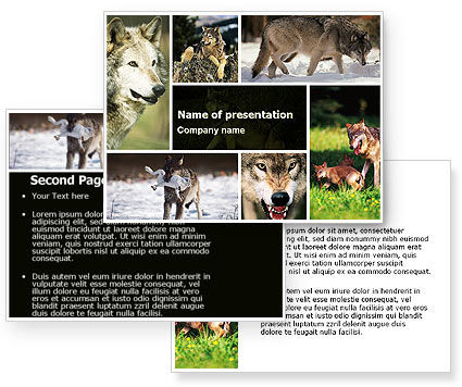Wolf PowerPoint Template #05439