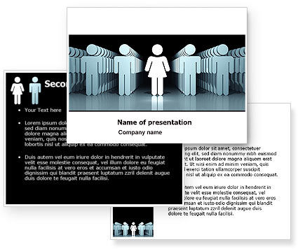 Gender Inequality PowerPoint Template #05537
