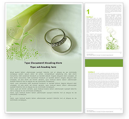 Engagement Word Template #05619