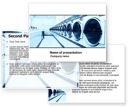 Laundry PowerPoint Template #05737