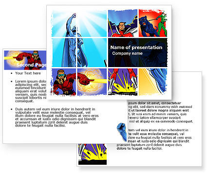 Superheroes PowerPoint Template #05738
