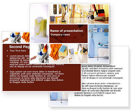 Housecleaning PowerPoint Template #05780