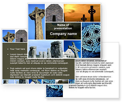 Celtic Revival PowerPoint Template #05840