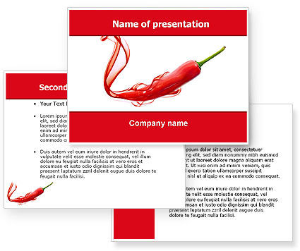 Chili Pepper PowerPoint Template #05845