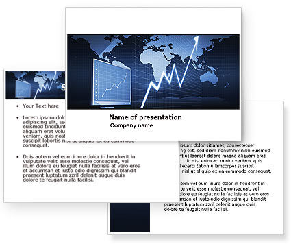 Stock market jumping rate powerpoint template for Stock market ppt templates free download