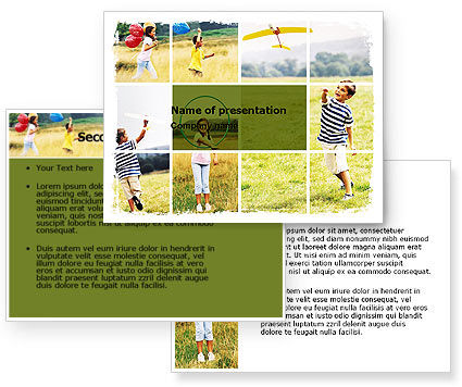 Outdoor Play PowerPoint Template #05889