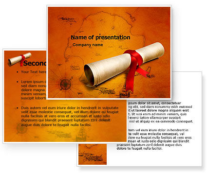 Treasure Map PowerPoint Template #05910
