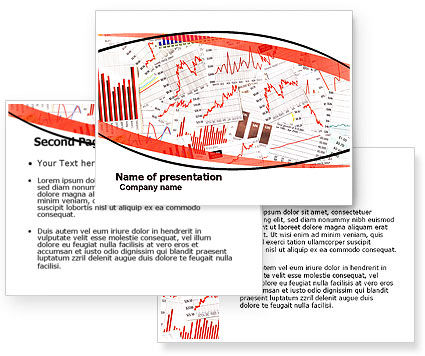 Stock market histograms powerpoint template for Stock market ppt templates free download