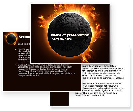 eclipse html template - solar eclipse powerpoint template