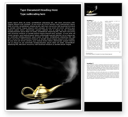 Aladdin's Magic Lamp Word Template #05956