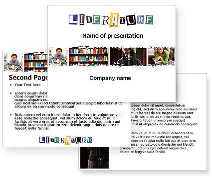 Literature PowerPoint Template #06069