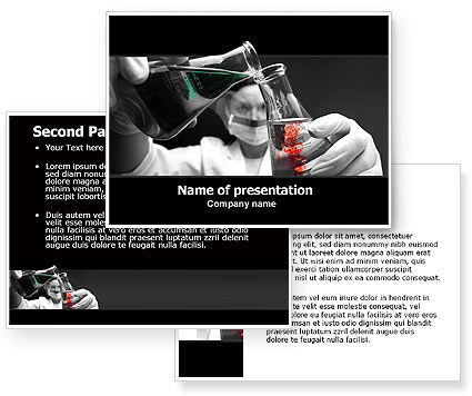 Chemical Reaction PowerPoint Template #06106