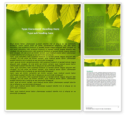 Free Early Fall Word Template 06276 PoweredTemplatecom 31uv7sLh