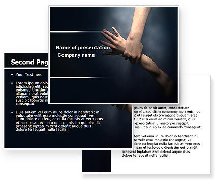 Rescue Hand PowerPoint Template #06330