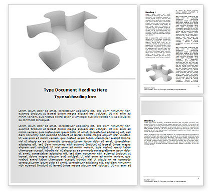 Puzzle Piece Word Template #06513