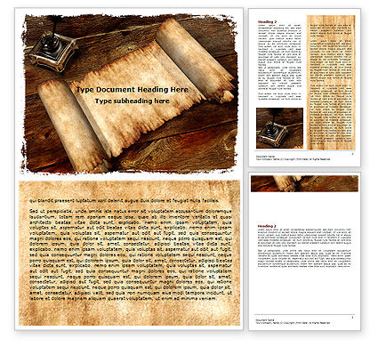 Ancient Scroll Word Template #06539