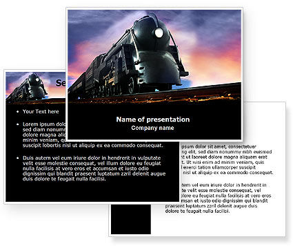 Steam Locomotive PowerPoint Template #06610