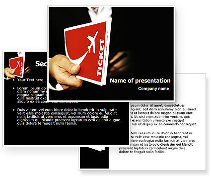 Ticket Anywhere PowerPoint Template #06621