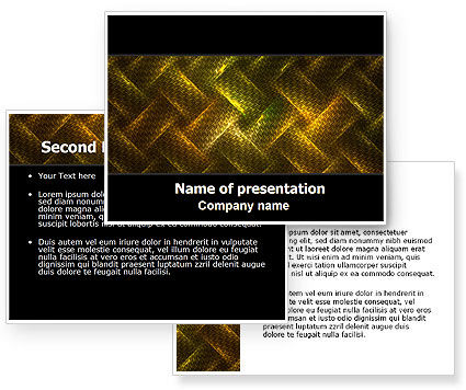 Woven Fabric PowerPoint Template #06798