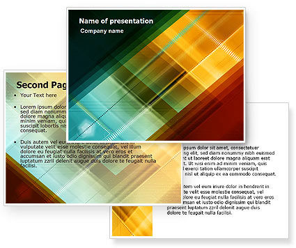 Abstract Color Design PowerPoint Template #06823