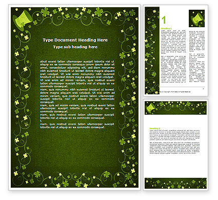 Irish Theme Word Template #06857