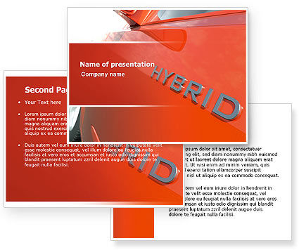 Hybrid Car PowerPoint Template #06911