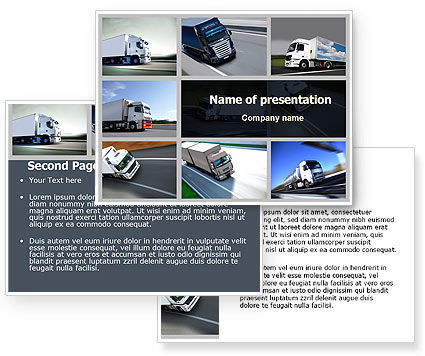 Trailer Trucks PowerPoint Template #06923