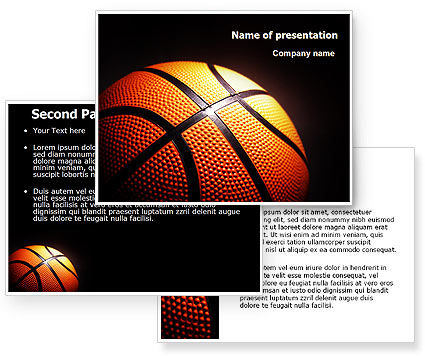 basketball ball on nba colors floor powerpoint template 06934 3. Black Bedroom Furniture Sets. Home Design Ideas