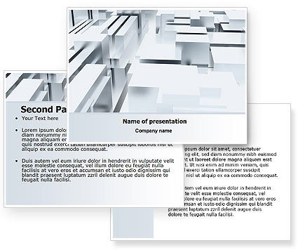 Free 3D Blocks PowerPoint Template #07016
