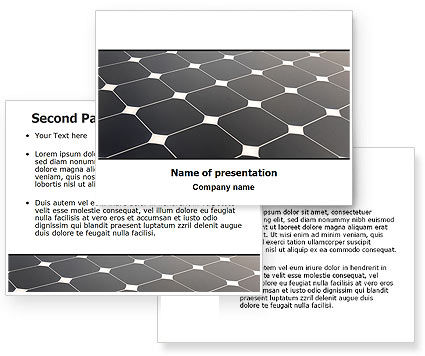Solar Panel PowerPoint Template #07026
