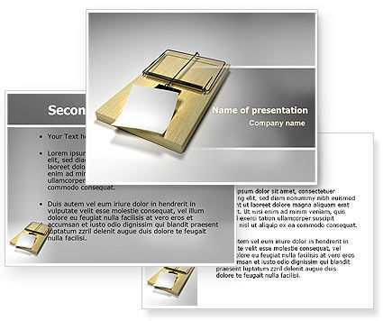 Mouse Trap PowerPoint Template #07151