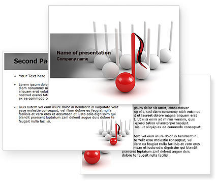 Musical Notes PowerPoint Template #07181