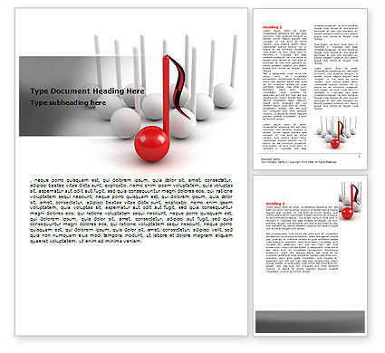Musical Notes Word Template #07181