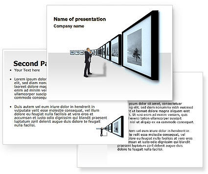 Art Design Gallery PowerPoint Template #07184