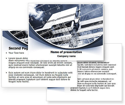 Building Plan Project PowerPoint Template #07238